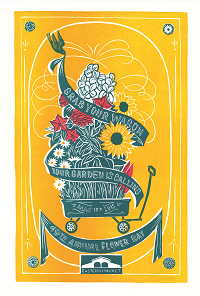 49th Annual Flower Day signed print, $49